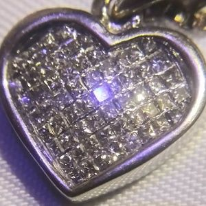 Jewelry - 14k white gold heart necklace